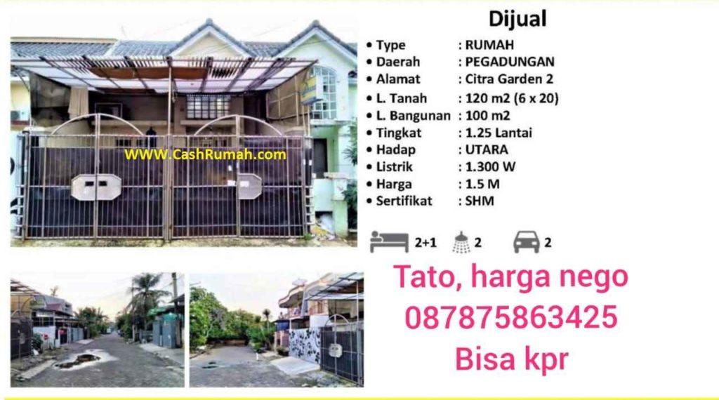 Jual Rumah Murah Citra di  Citra 8 CashRumah 087875863425