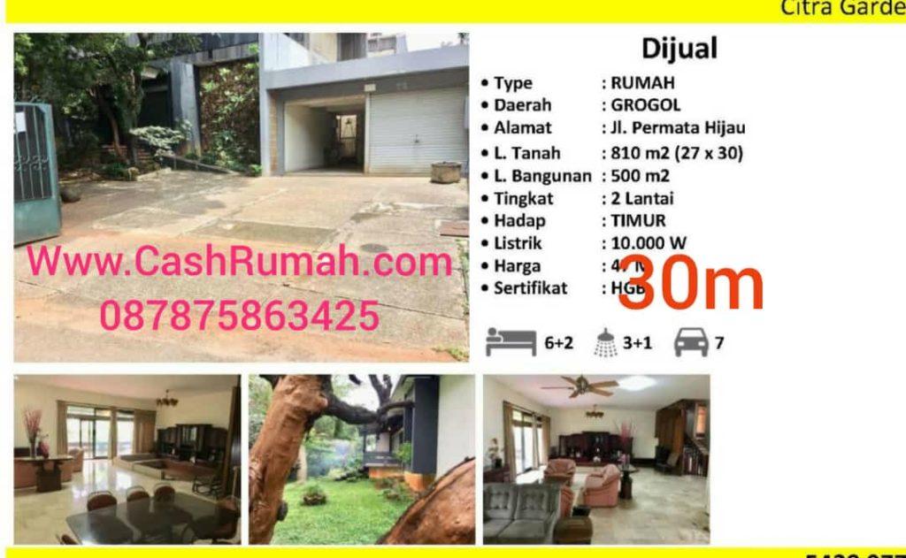 Jual Murah Permata Hijau 824m Rumah HGB CashRumah 087875863425