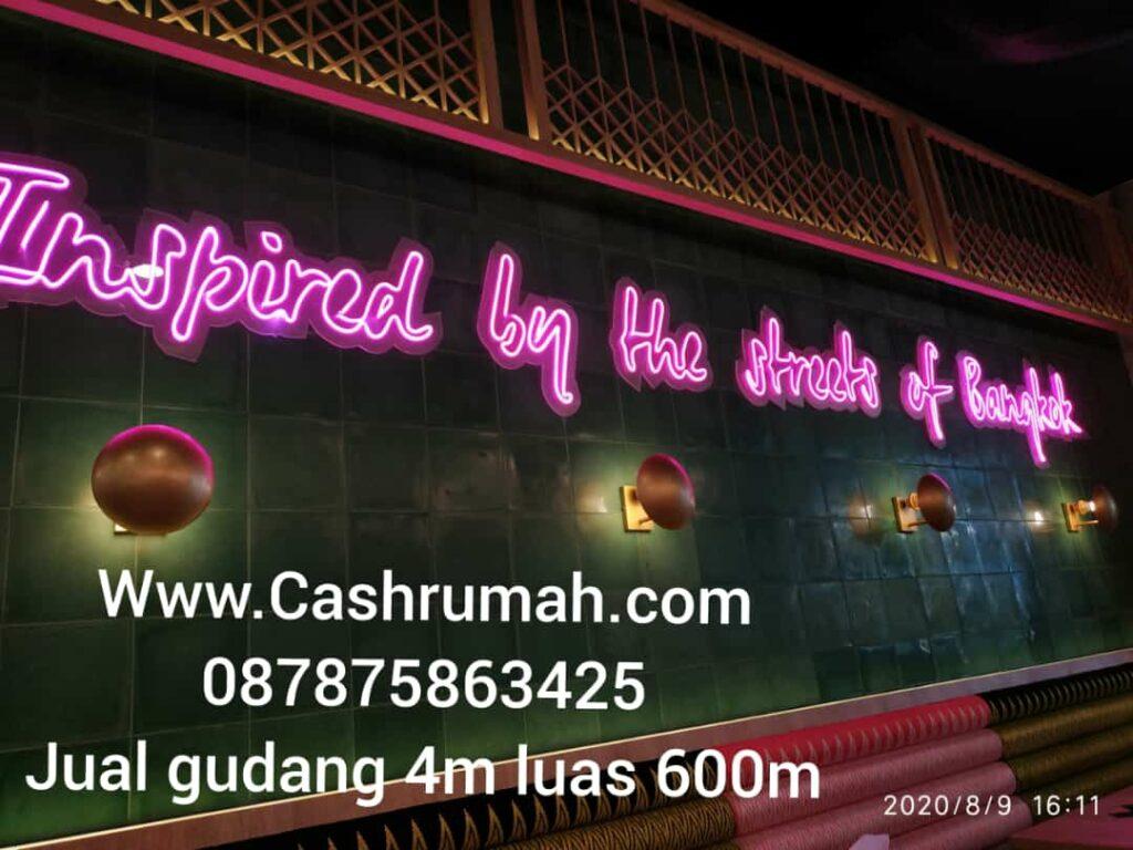 Jual Gudang Salembaran 4m SHM di Palem Cashrumah 087875863425