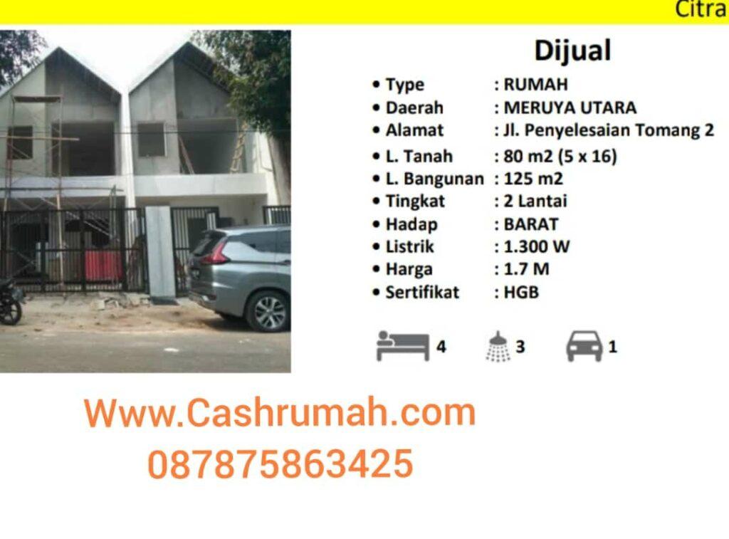 Jual Rumah Meruya Kav DKI di Kalideres Cashrumah 087875863425