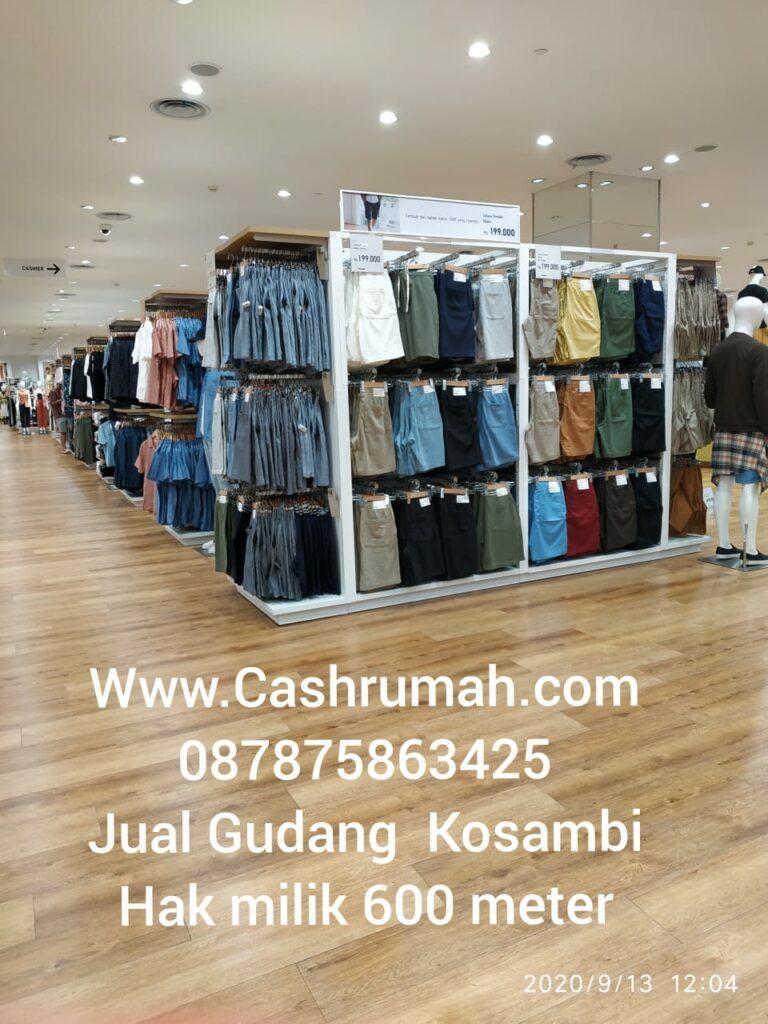 Cashrumah Jual Gudang Kosambi  Salembaran SHM 087875863425