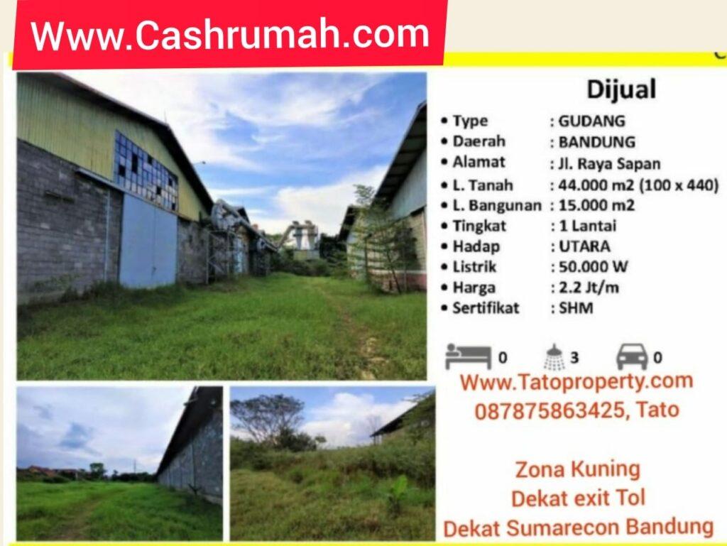 Cashrumah Jual Gudang Pabrik Bandung Sumarecon Tato 087875863425