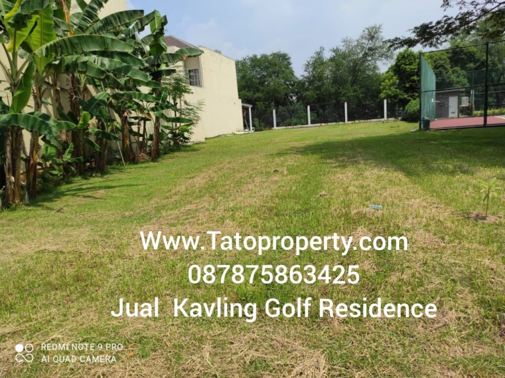 Kavling Golf Residence Modernland Dijual di Pik Tato 087875863425
