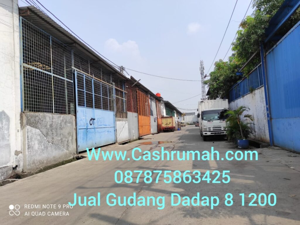 Jual Gudang Jl Raya Perancis Dadap 8 1200 m Tato 087875863425