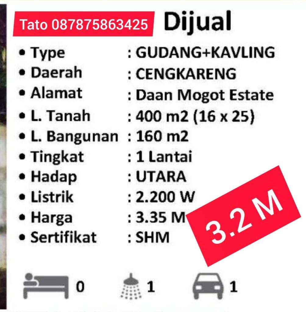 Rumahtato Jual Gudang Daan Mogot Estate 400 m 087875863425