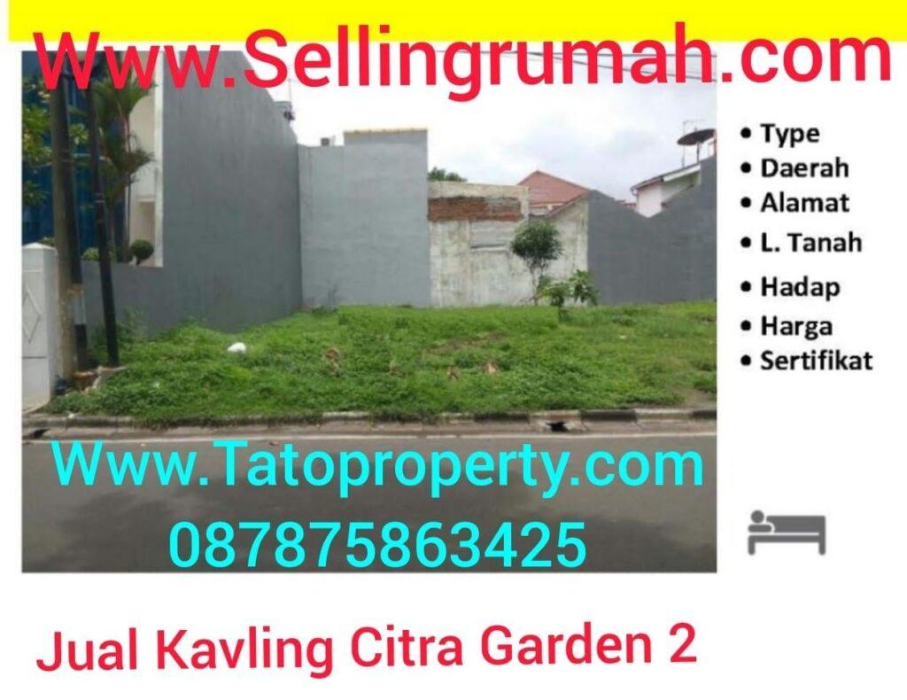 Jual Kavling Citra Garden 2 Kalideres Cashrumah Tato 087875863425